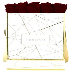 Art Déco Collection Burgundy Large white - square