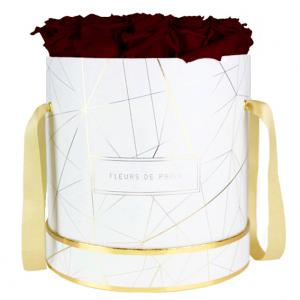Art Déco Collection Burgundy Large white - round