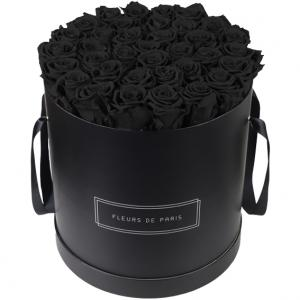 Infinity Collection Black Beauty Luxe black - round