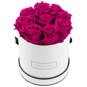 Infinity Collection Hot Pink Medium white - round