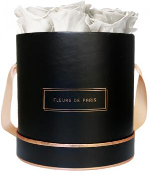 The Rosé Gold Collection Ivory Medium black - round
