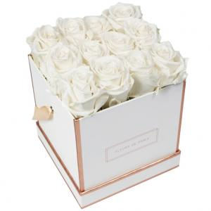 The Rosé Gold Collection Ivory Medium white - square