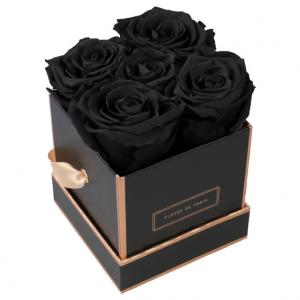The Rosé Gold Collection Black Beauty Small black - square
