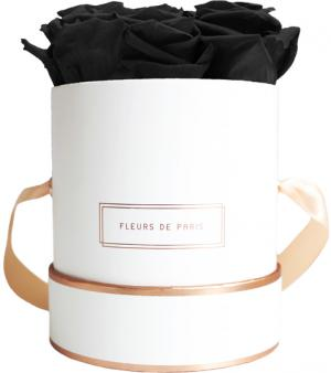 The Rosé Gold Collection Black Beauty Small white - round